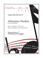 Altissimo Studies for Alto Saxophone
